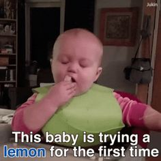 Trying lemon for the first time