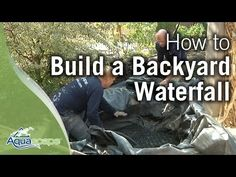 Adding a waterfall to your dream backyard pond or water garden is easy using Aquascape's DIY Backyard Waterfall kit. Get ideas and instructions! Waterfall Building, Garden Waterfall, Small Waterfall, Waterfall Fountain, Diy Pondless Waterfall, Waterfall Project, Waterfall Design, Backyard Water Feature, Ponds Backyard