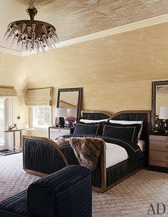 Brass Beige Black Master Bedroom Designed By Kelly Wearstler