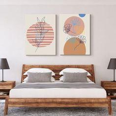 Japandi Art 3 Panel Set | FREE USA SHIPPING | WallArt.Biz - Wall Art Bedroom Art Above Bed, Bedroom Canvas, Bedroom Artwork, Scandinavian Artwork, Office Canvas, Office Wall Decor, Minimalist Design, Japanese Style, Usa