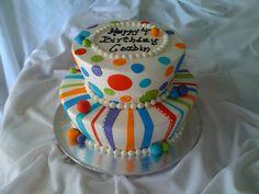 Bright Colors Cake, via Flickr.