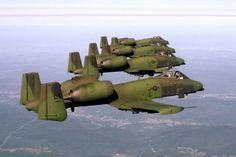 four A10 Thunderbolts (Warthogs)