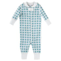Hanna Andersson Baby Sleeper – Turquoise Crab | Serena & Lily