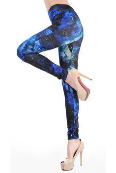 Black And Blue Galaxy Legging