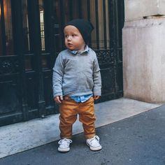 Bike Ride in Paris - Barefoot Blonde by Amber Fillerup Clark Baby Outfits, Toms Outfits, Little Boy Outfits, Toddler Outfits, Toddler Boy Fashion, Little Boy Fashion, Toddler Boys, Kids Fashion, Cute Baby Boy