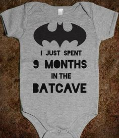 for my future little bat-baby. you know this is a must when daddy is secretly batman and momma is secretly batgirl
