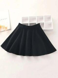 Girls Zipper Detail Flared Skirt – Kidenhouse Leopard Print Skirt, Floral Print Skirt, Frock Design, Bandeau Bikini, Cami Tops, Sexy T Shirt, Pleated Skirt, Skater Skirt, Denim Jacke