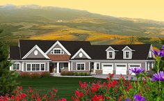 House Plan 75211 | Craftsman Traditional Plan with 2271 Sq. Ft., 2 Bedrooms, 2 Bathrooms, 3 Car Garage