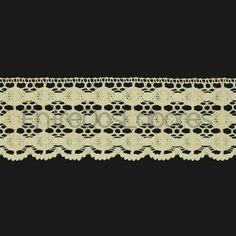 Puntilla de encaje de bolillos de algodón mercerizado de 5,3 cm. (Disponible en 2 combinaciones de colores)