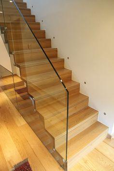 Treppen & Material - Steigwerk GmbH Interior Railings, Staircase Railings, Staircases, Glass Stairs, Glass Railing, Winder Stairs, Glass Balcony, Stair Landing, Glass Balustrade