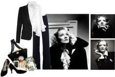 """""""Marlene Dietrich"""" by sera-148 ❤ liked on Polyvore"""