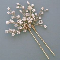 Wedding Hair Pins   Bridal Hairpins   Pearl, Crystal, Vintage