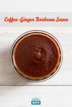 For this easy barbecue sauce, a ketchup base is spiked with a half cup of strong coffee, freshly grated ginger, a little dark chocolate, and molasses.