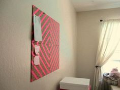 Washi Tape Cork board | 25 Gorgeous DIYs For Your Teenage Girl's Room