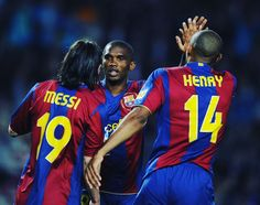 Leo Messi Samuel Eto'o and Thierry Henry: another Barcelona's amazing trio by mundialstyle