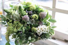 オーニソガラム/アルケミラモリス/ブーケ/花束/花どうらく/花屋/http://www.hanadouraku.com/bouquet