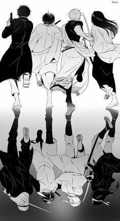 Sakata Gintoki, Takasugi Shinsuke, Katsura Kotaro and Sakamoto Tatsuma   Gintama