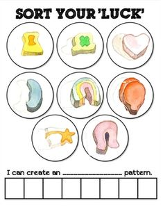 Lucky Charm sorting mat to use on or near St. Patty's Day to help your little learners reinforce the skill of sorting and patterning.**This act...