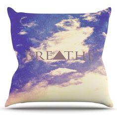 East Urban Home Breathe by Rachel Burbee Outdoor Throw Pillow