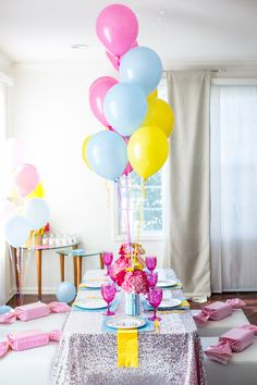 Guest table from a Glam Carnival Birthday Party on Kara's Party Ideas | KarasPartyIdeas.com (34)