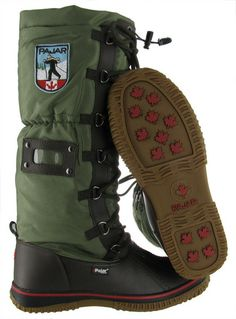 Dark Brown/Military Pajar Grip Women's Snow Boots Waterproof Outdoor Winter | Streetmoda. More Pajar Winter boots for men & women at Streetmoda http://www.streetmoda.com/collections/pajar