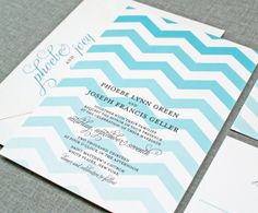 As if a chevron patterned invite couldn't get any more perfect?! An ombre chevron patterned invite...love