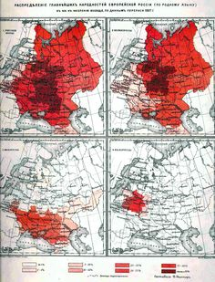 Russians, Ukrainians and Belorussians in Russian Empire according to the 1897 census