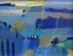 EVENING LIGHT Malcom Ashman. I love what Mr Ashman does with blue.