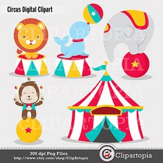 Circus Digital Clipart for Personal and Commercial by ClipArtopia