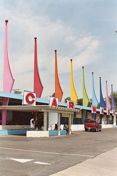 Car wash in San Bernadino - atomic age influence. (also in San Bernardino! Have to see this place too)