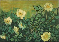 Vincent van Gogh: Wild Roses Painting. Oil on canvas. Saint-Remy: April-May, 1890.  Amsterdam: Van Gogh Museum.