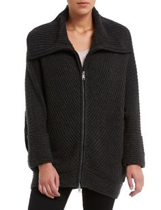 Knitwear, This easy-to-wear cardigan adds a stylish layer to any outfit. It has a drapey detail, with an elastic gather at the back. Ribbed Cardigan, Knitwear Fashion, Chucky, Skinny Pants, Cosy, Hooded Jacket, Warm, Zip, Stylish