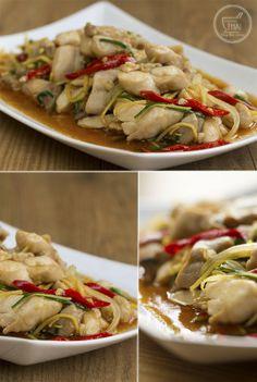 """Receta de """"Salteado de pollo con jengibre"""" #CocinaTailandesa"""