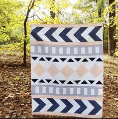 Tribal Song Quilt throw quilt modern quilt couch quilt