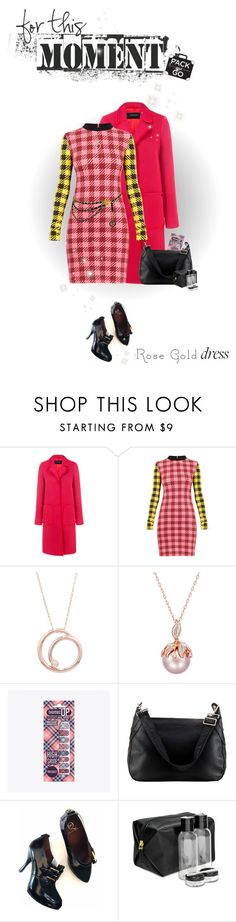 """""""for this moment #rosegold #under100 #packandgo (#886)"""" by nobility99 ❤ liked on Polyvore featuring Pink Tartan, House of Holland, London Road, Burberry, Alexander McQueen, Tartan + Twine and Chanel"""