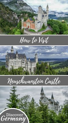 Your guide on how to visit Neuschwanstein Castle from Munich Germanys most beautiful castle. How to get there modes of transportation tour options where to stay and all the information you need to visit the castle. Places To Travel, Places To Go, Travel Destinations, Travel Tips, European Vacation, European Travel, Attractions In Germany, Castles To Visit, Romantic Road