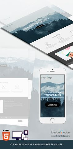 Clean Responsive Landing Page Template Freebies Bootstrap CSS CSS3 Free HTML5 Landing Page Layout Resource Responsive Template Web Design