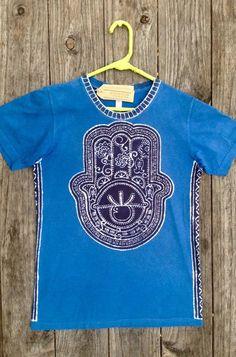 Lion of Judah hand made green batik t shirt. PJmY9