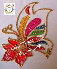 Aari Embroidery, Embroidery Designs, Designer Wear, Designer Dresses, N Animals, Zardosi Work, Thread Art, Training Classes, Work Blouse