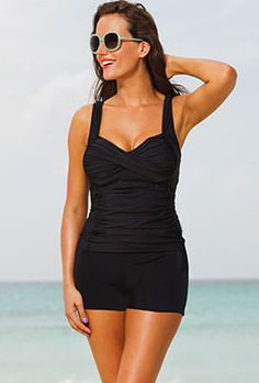 ce33caed65ab5 Black Fringe Bandeau One Piece Swimsuit. Plus Size SwimwearTankini Swimsuits  For WomenTankini ...