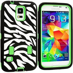 "myLife Three Layer Shockproof ""Built In Screen Protector"" Security Armor Case for Galaxy S5 by Samsung {Green, Black and White with Zebra Stripes ""Protective Tuff Shell Design"" Hybrid Triple Piece BOX Protector Shield with Rubberized Gel} myLife Brand Products http://www.amazon.com/dp/B00QQTFUIQ/ref=cm_sw_r_pi_dp_gF-Xub0B3R2F1"