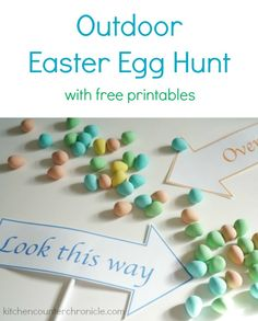 Outdoor Easter Egg Hunt - Take the hunt outside this year with these free printable signs and Easter Bunny letter for the kids. So much Easter fun!