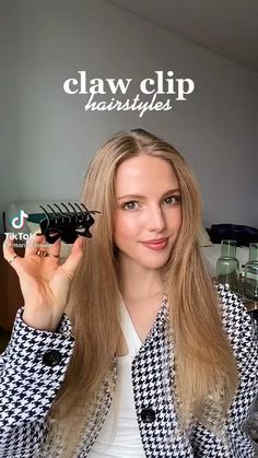 Haircuts Straight Hair, Easy Hairstyles For Long Hair, Casual Hairstyles, Pretty Hairstyles, Clip Hairstyles, Teenage Hairstyles, Hair Streaks, Hair Highlights, Hair Up Styles