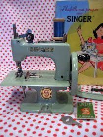 1960 Singer Sewhandy  sewing machine. The first machine I ever owned!  Had to leave it behind when we left and I sure missed it!