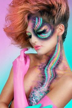 beautiful tribal make up.