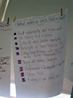 Great reading/writing anchor charts from Lucy Calkins