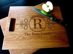 Engraved cutting board. #typography
