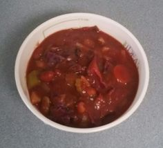 Slow cooked minestrone soup