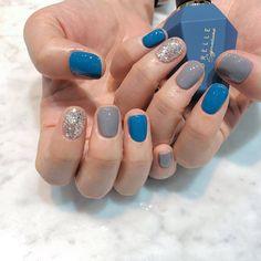 Nail Manicure, Diy Nails, Cute Nails, Pretty Nails, Fall Nail Colors, Nail Polish Colors, Nagellack Design, Sparkle Nails, Square Nails