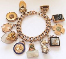b0ff71becce08 576 Best Gold Charms & Bracelets - Vintage Charms images in 2018 ...